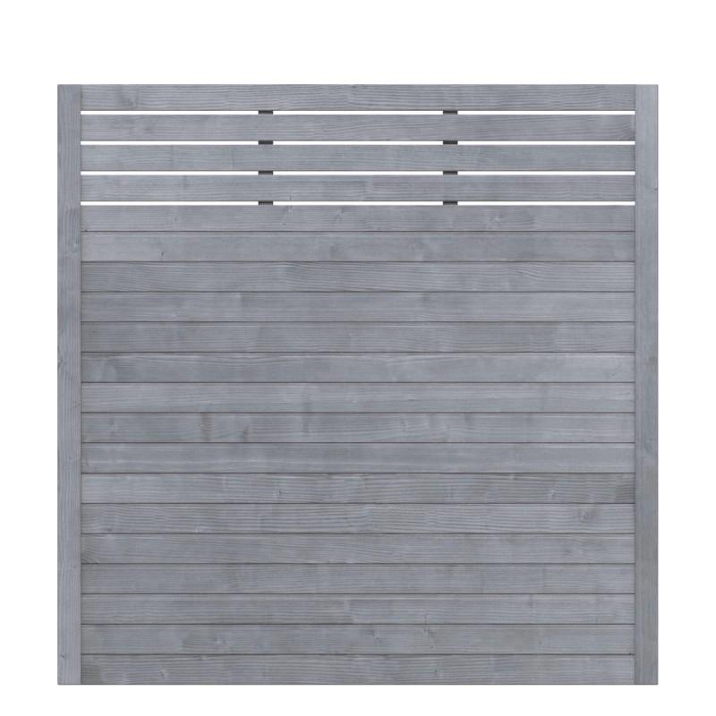 Sichtschutzzaun NEO DESIGN Grau mit Gitter 179 x 179 cm