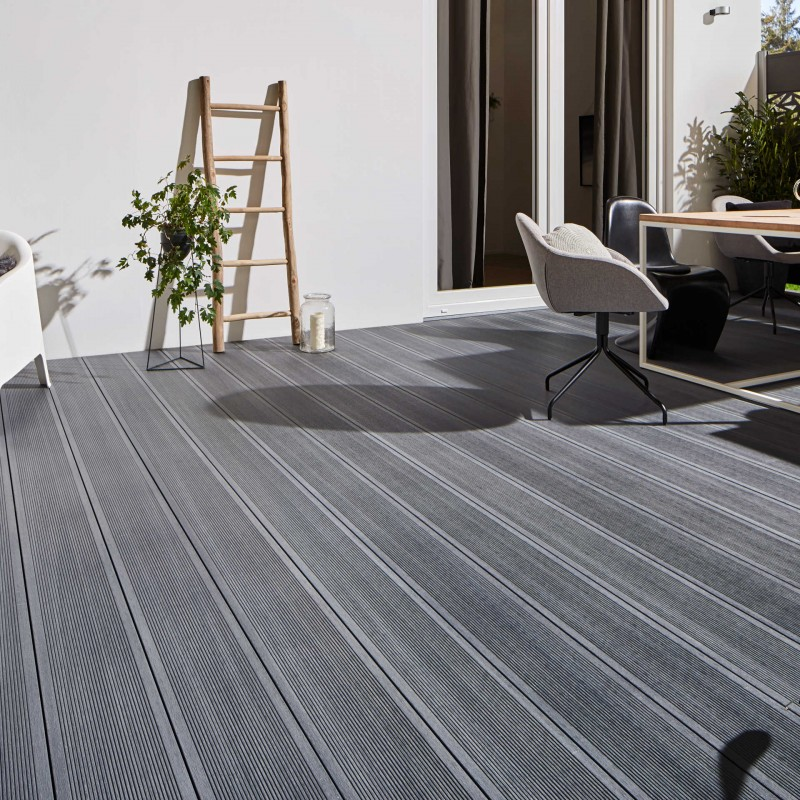 Terrassendiele WPC Platinum Grau 20x195 mm