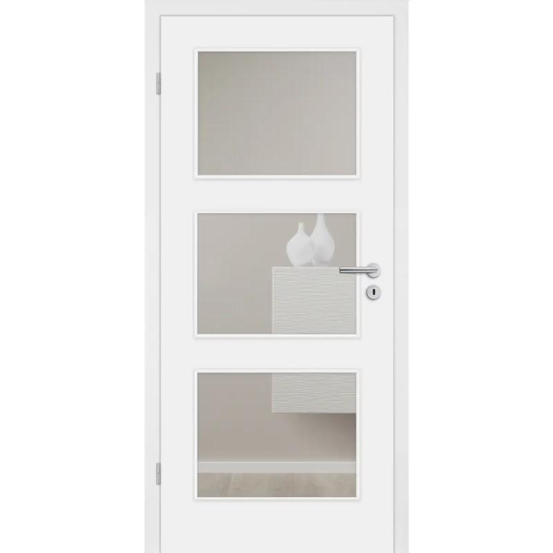 CPL-Tür Diamant weiß glatt mit Lichtausschnitt
