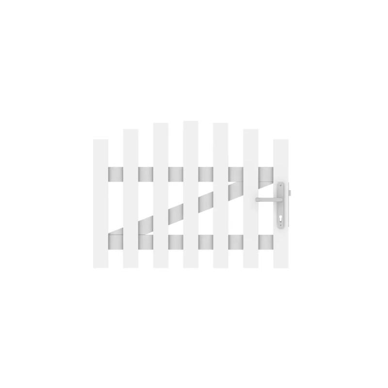 Vorgartenzaun LONGLIFE CARA Weiß Tor Rund DIN Li 106 x 70 cm