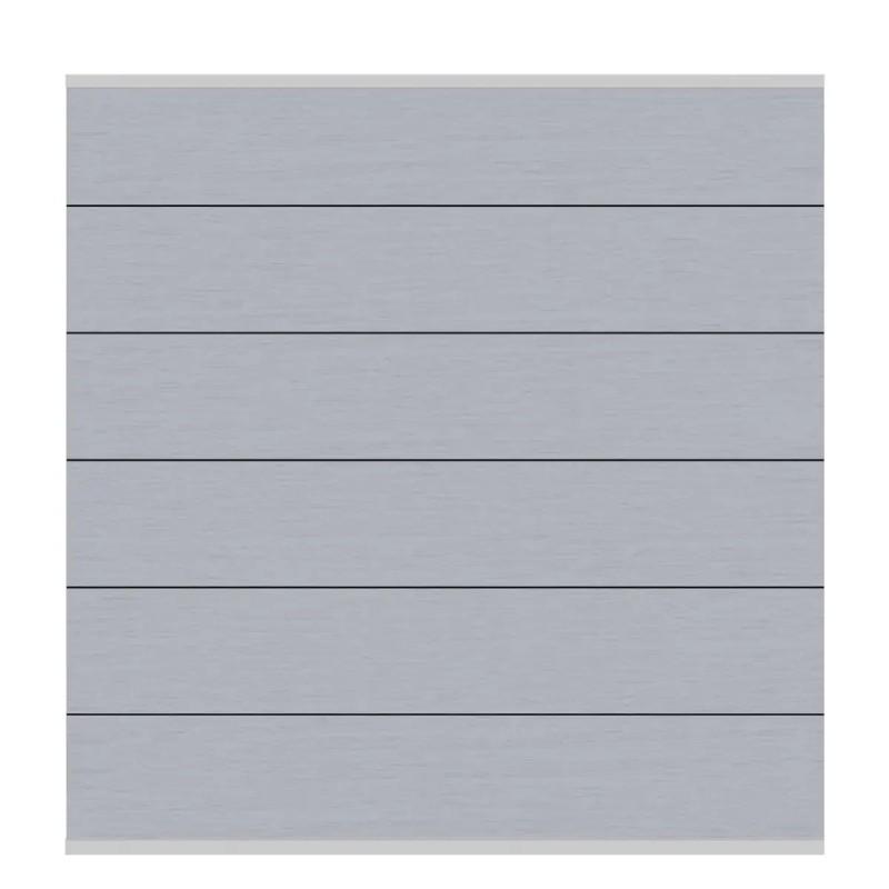 Sichtschutzzaun SYSTEM WPC XL Grau/ Silber 178 x 183 cm
