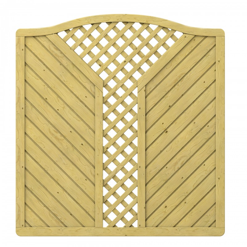 Sichtschutzzaun GADA Krone mit V-Gitter 179 x 179 cm