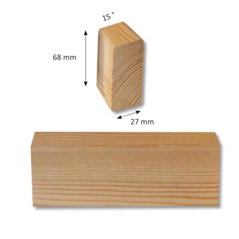 Parallelogrammleiste Sibirische Lärche 27x68 mm