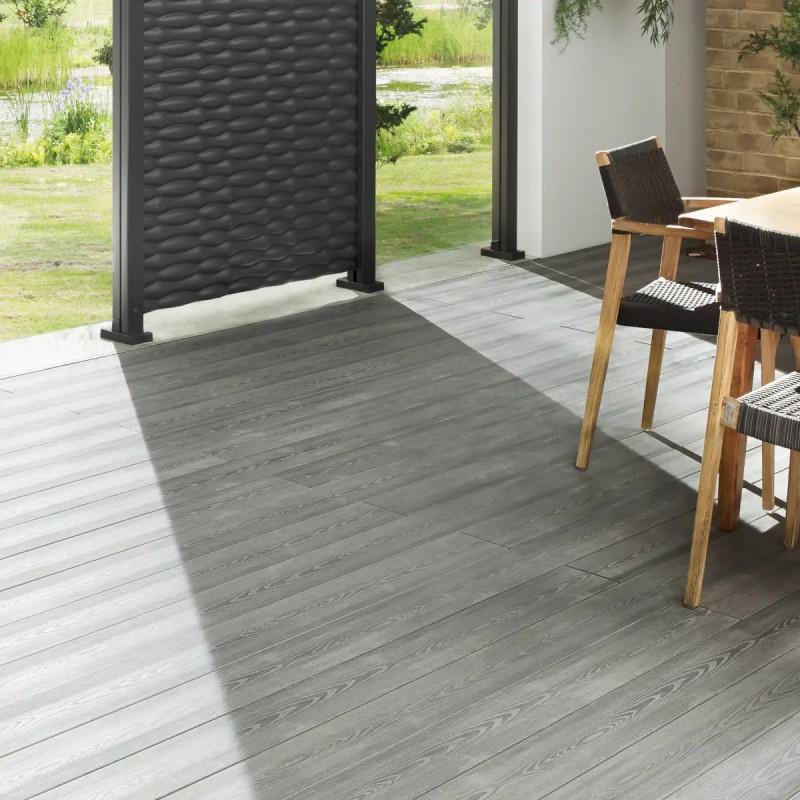 Terrassendiele WPC Plus XL Grau 23x240 mm