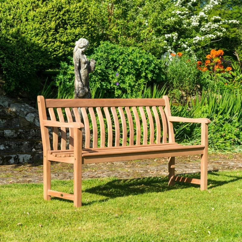Gartenbank Mahagoni Broadfield 3-Sitzer