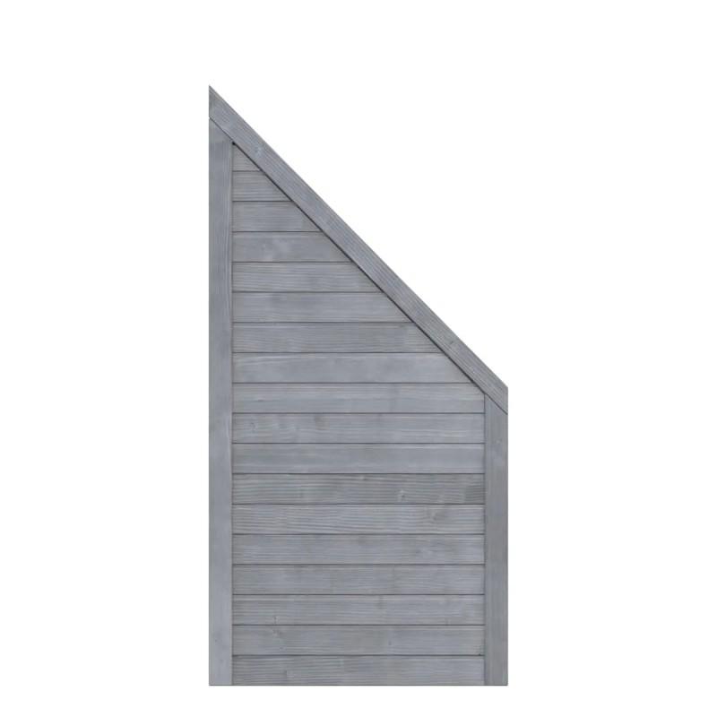 Sichtschutzzaun NEO DESIGN Grau Anschluss 89 x 179 auf 89 cm