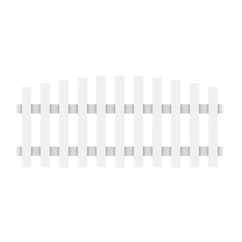 Vorgartenzaun LONGLIFE CARA Weiß Rund 180 x 70 cm (80 cm)