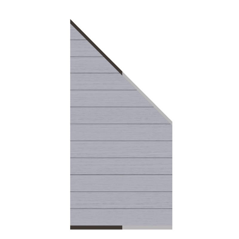 Sichtschutzzaun SYSTEM WPC CLASSIC Grau 91 x 183 auf 93 cm