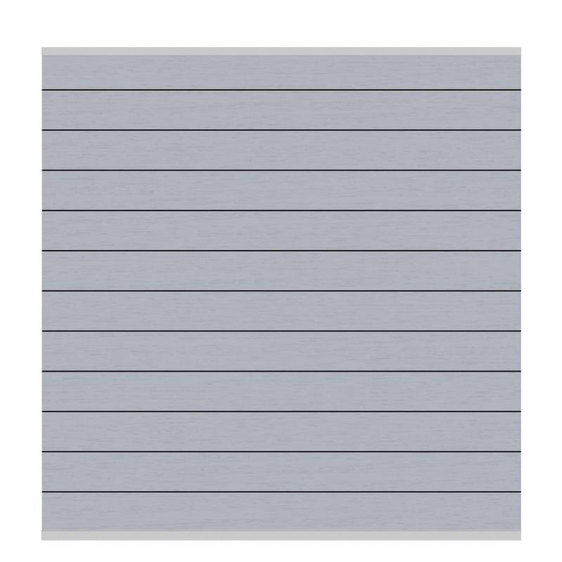 Sichtschutzzaun SYSTEM WPC CLASSIC Grau/ Silber 178 x 183 cm