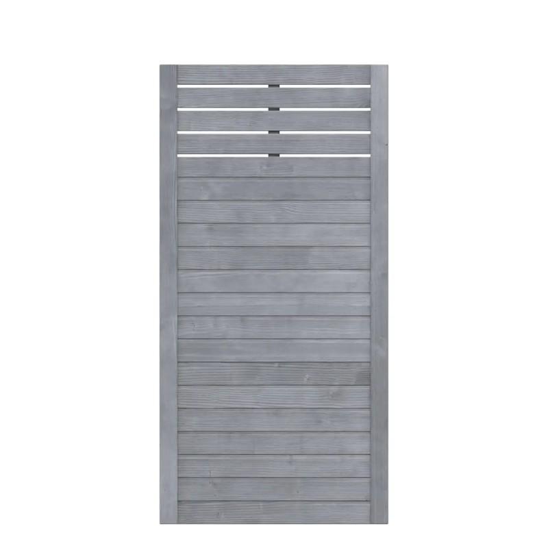 Sichtschutzzaun NEO DESIGN Grau mit Gitter 89 x 179 cm