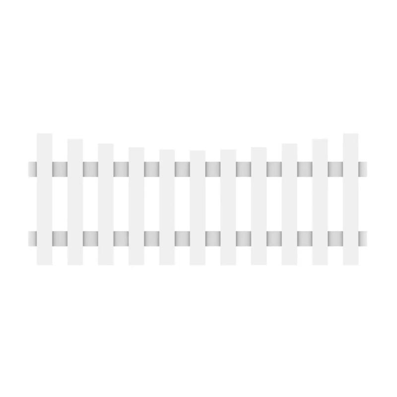 Vorgartenzaun LONGLIFE CARA Weiß Schwung 180 x 70 cm (61 cm)