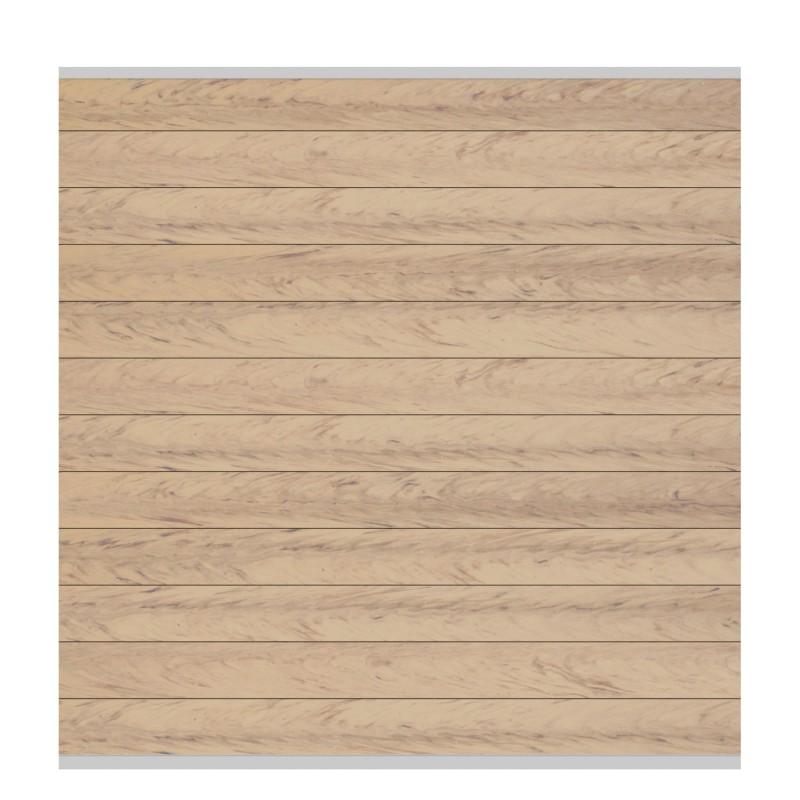 Sichtschutzzaun SYSTEM WPC CLASSIC Sand/ Silber 178 x 183 cm