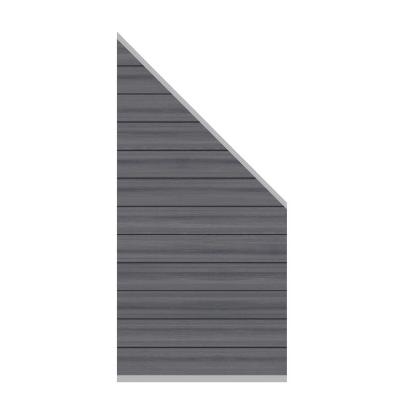 Sichtschutzzaun SYSTEM WPC PLATINUM Grau 91 x 183 auf 93 cm