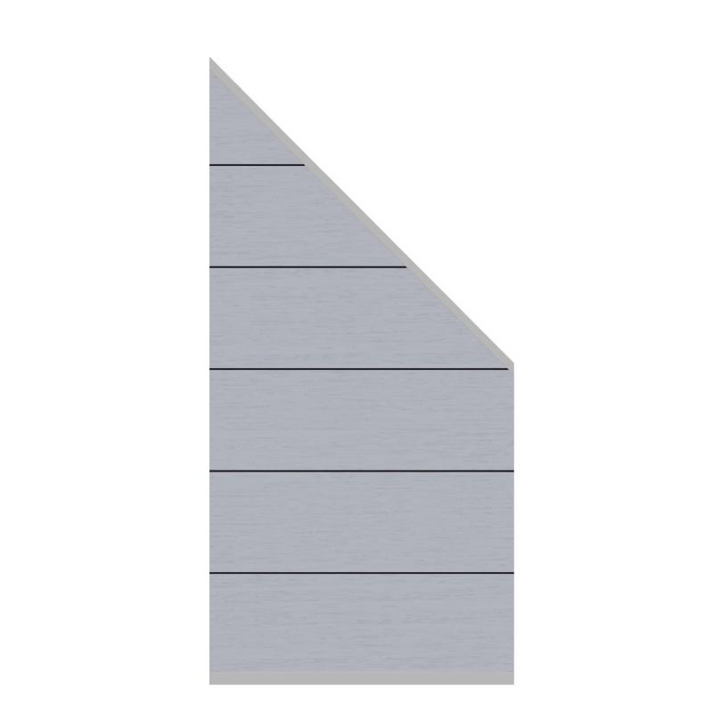 Sichtschutzzaun SYSTEM WPC XL Grau 91 x 183 auf 93 cm