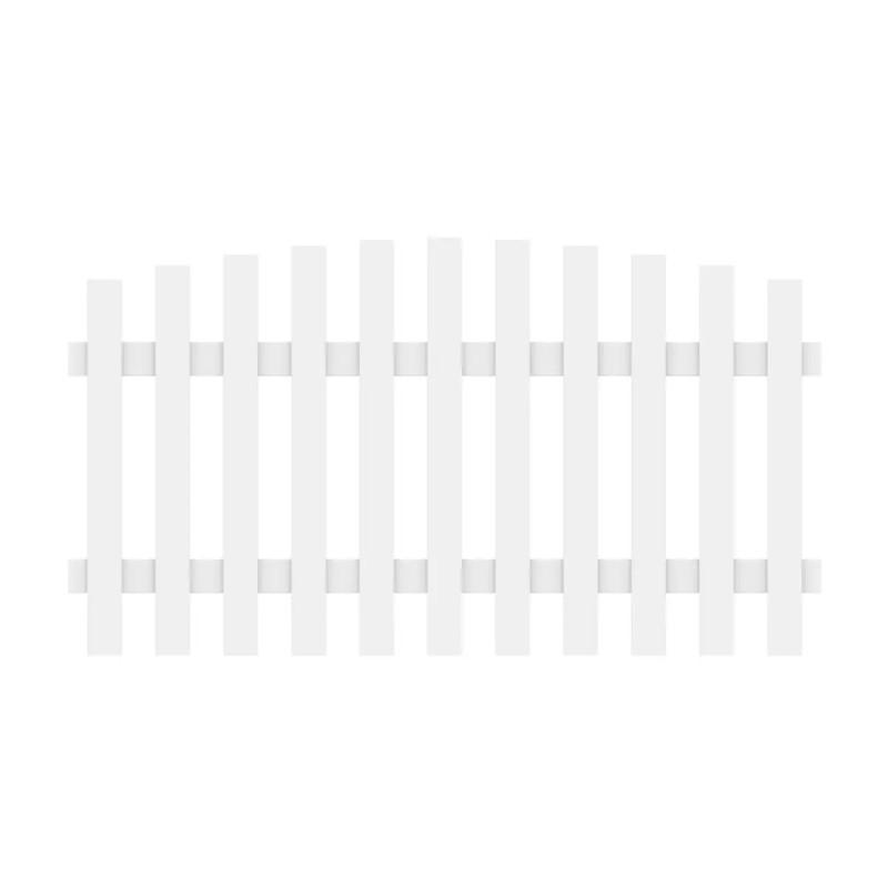 Vorgartenzaun LONGLIFE CARA XL Weiß Rund 180 x 90 cm (100 cm)