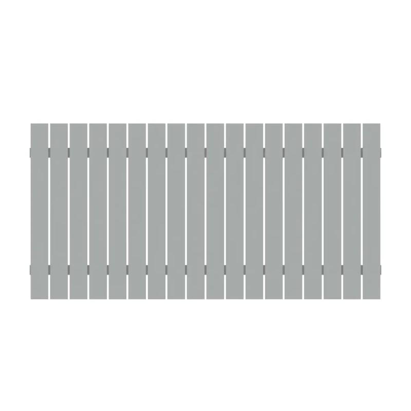 Vorgartenzaun SQUADRA Silber Alu 180 x 90 cm