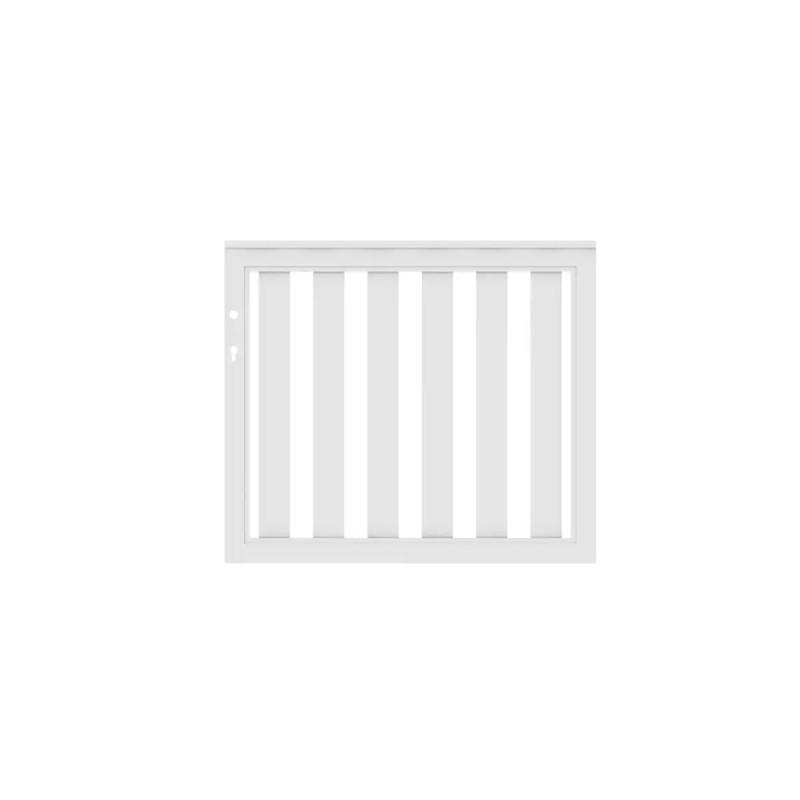 Vorgartenzaun LONGLIFE CLEO Weiß Tor DIN Li/Re 98 x 85 cm