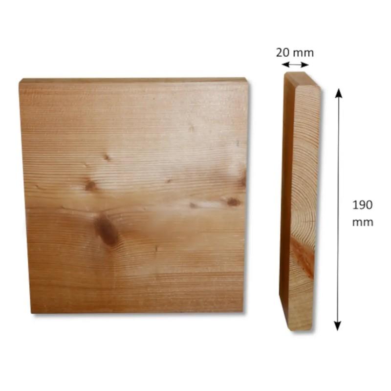 Glattkantbrett Sibirische Lärche 20x190 mm