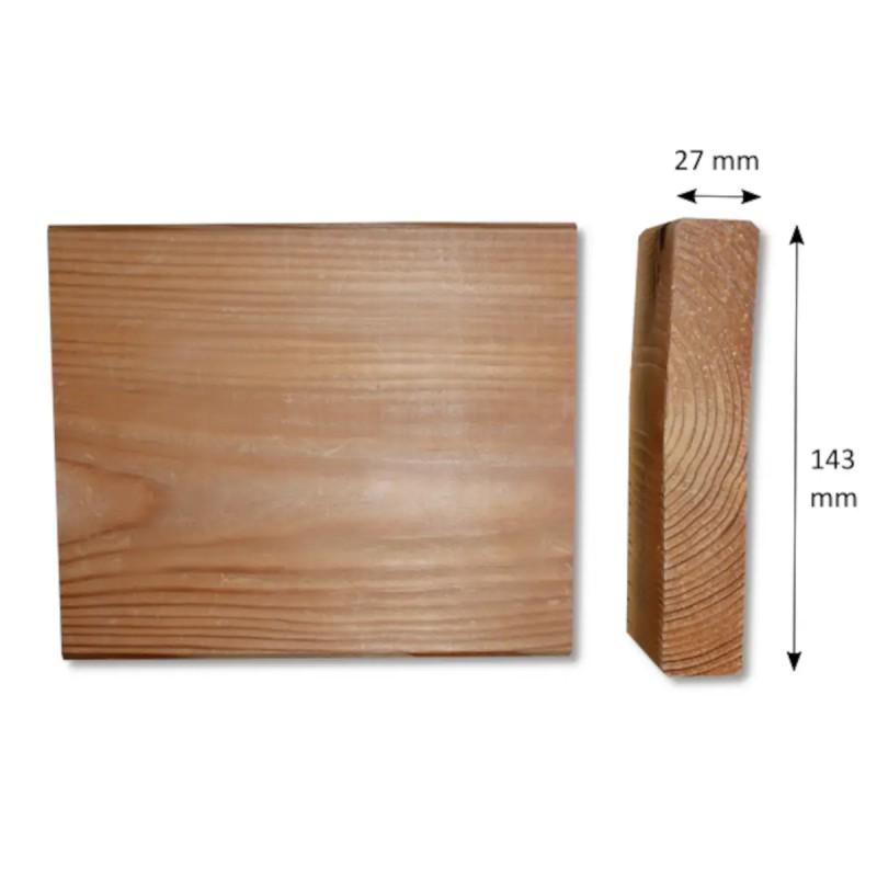 Glattkantbrett Sibirische Lärche 27x143 mm