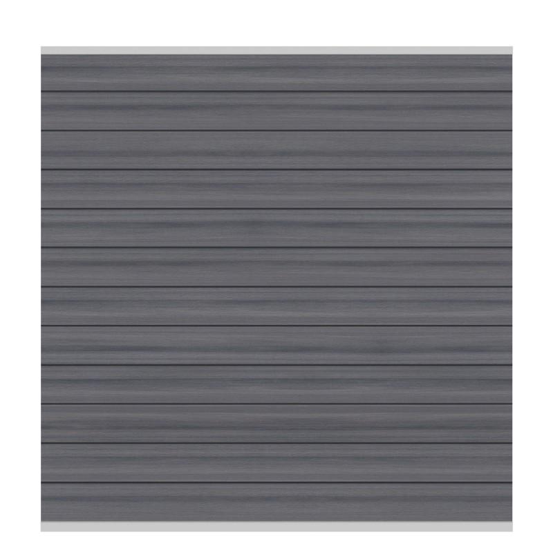 Sichtschutzzaun SYSTEM WPC PLATINUM Grau/ Silber 178 x 183 cm
