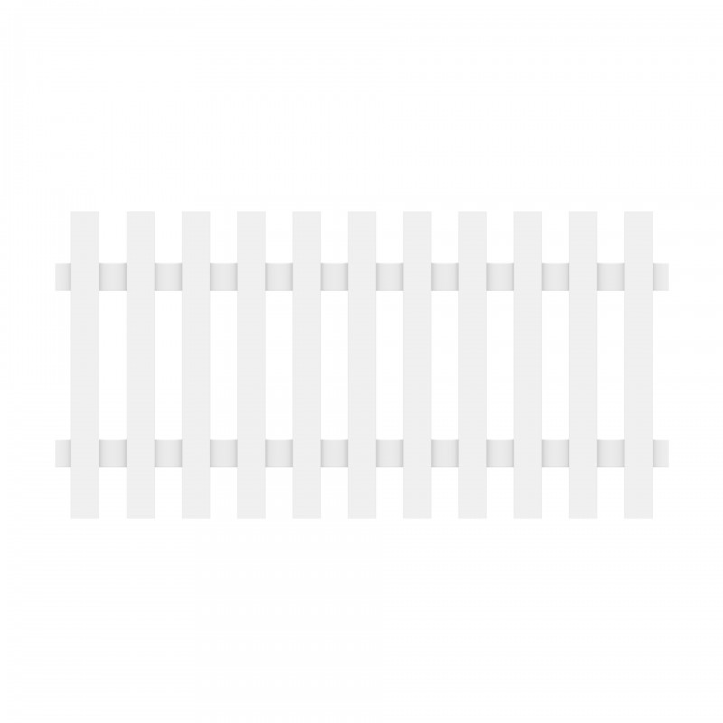 Vorgartenzaun LONGLIFE CARA XL Weiß Gerade 180 x 90 cm