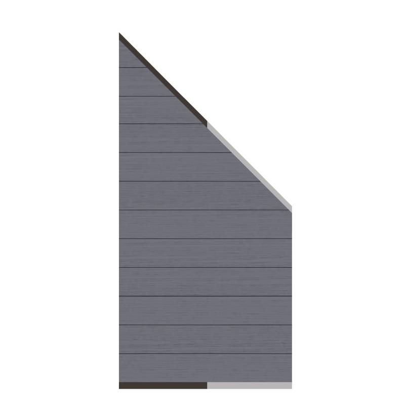 Sichtschutzzaun SYSTEM WPC CLASSIC Anthrazit 91 x 183 auf 93 cm