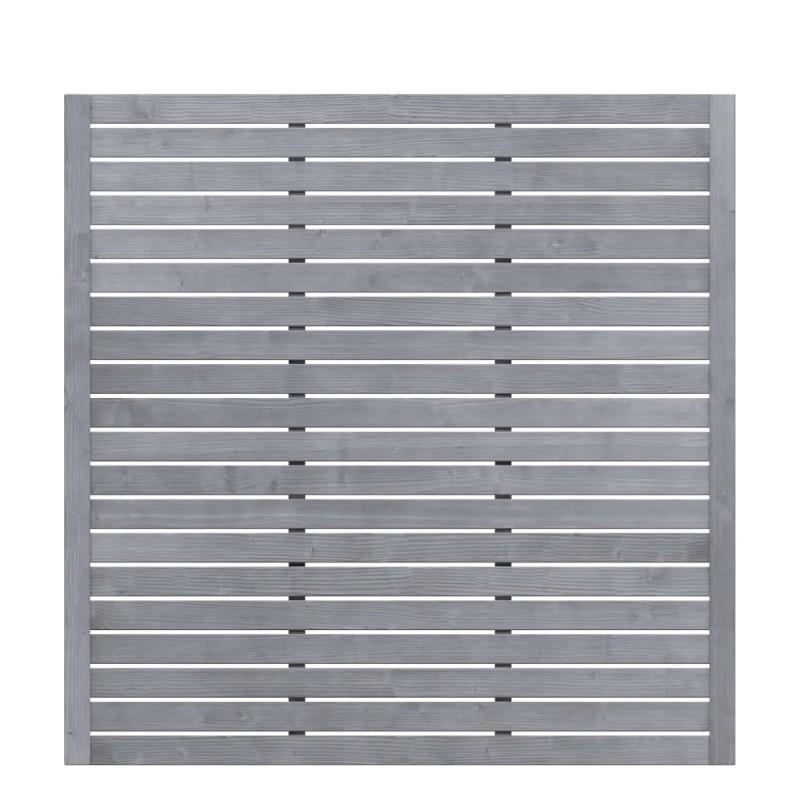 Sichtschutzzaun NEO DESIGN Grau offen 179 x 179 cm