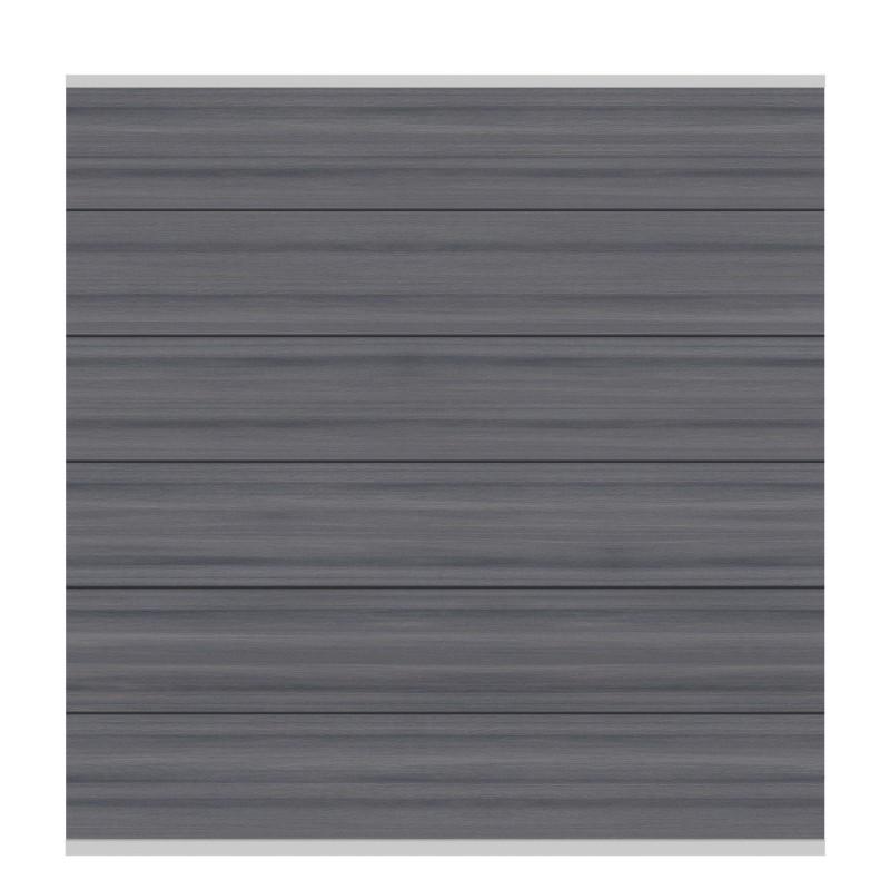 Sichtschutzzaun SYSTEM WPC PLATINUM XL Grau/ Silber 178 x 183 cm