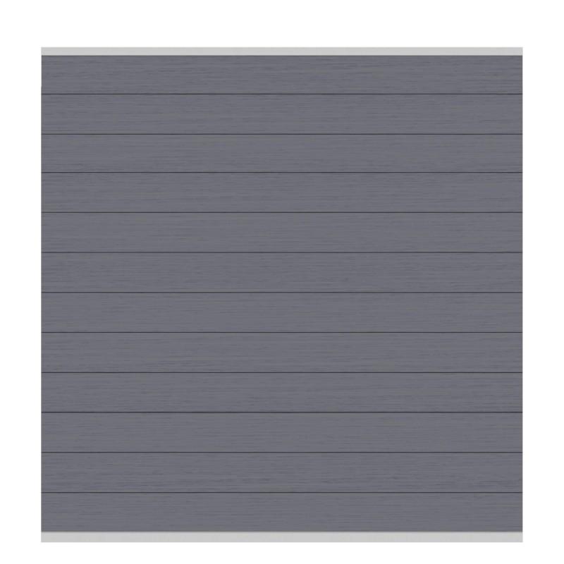 Sichtschutzzaun SYSTEM WPC CLASSIC Anthrazit/ Silber 178 x 183 cm