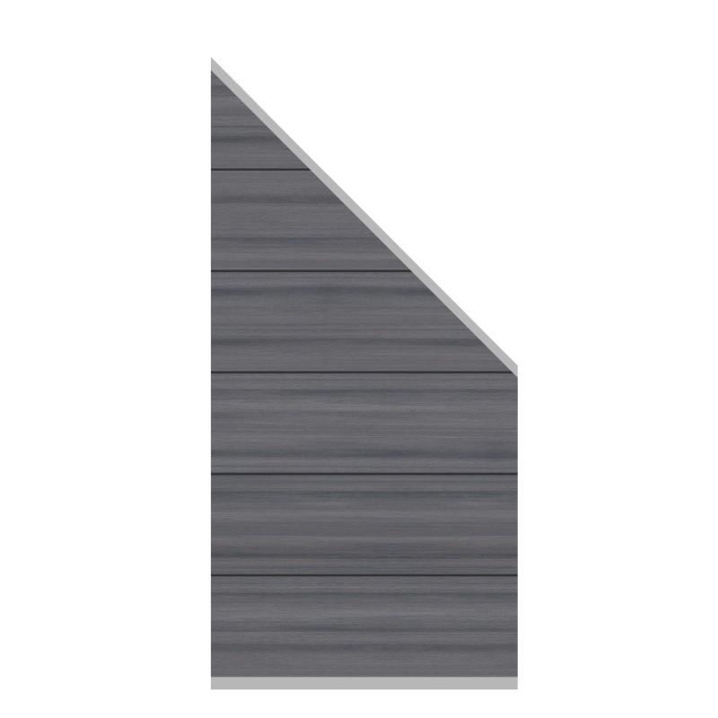 Sichtschutzzaun SYSTEM WPC PLATINUM XL Grau 91 x 183 auf 93 cm